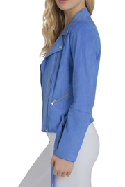 Lysse Blue Suede Jacket - Front full body