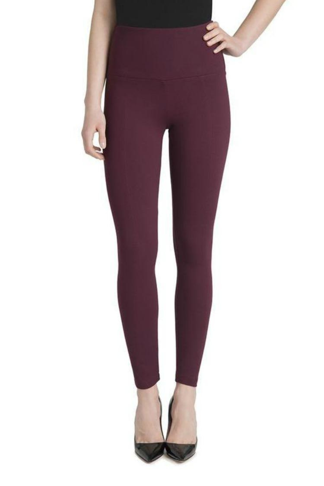 Lysse Burgundy Leggings - Main Image