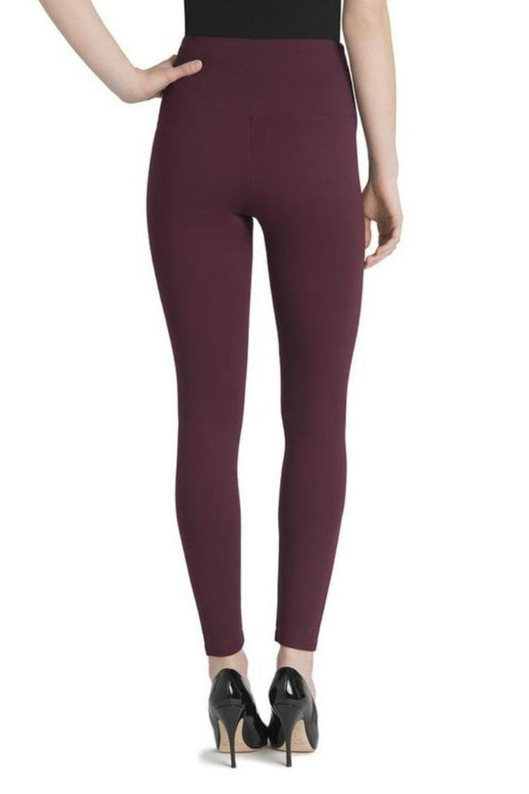 Lysse Burgundy Leggings - Side Cropped Image