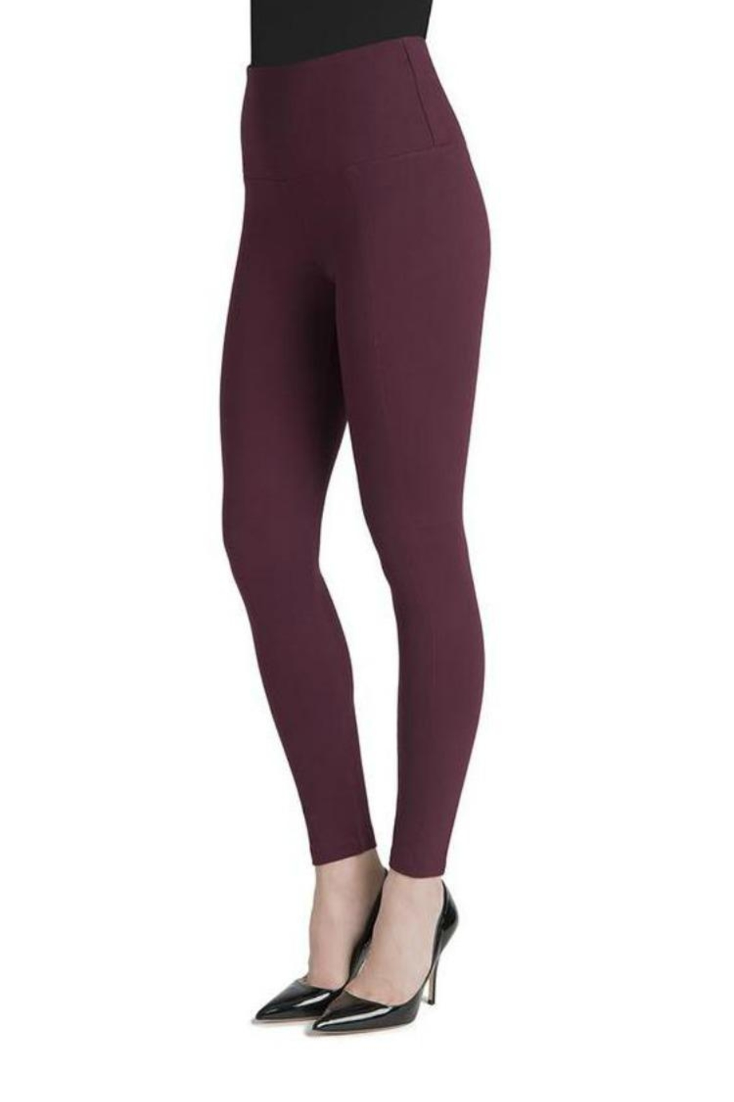 Lysse Burgundy Leggings - Front Full Image