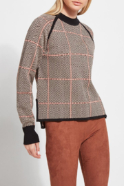 Lyssé Lysse Camel Herringbone Sweater - Product Mini Image