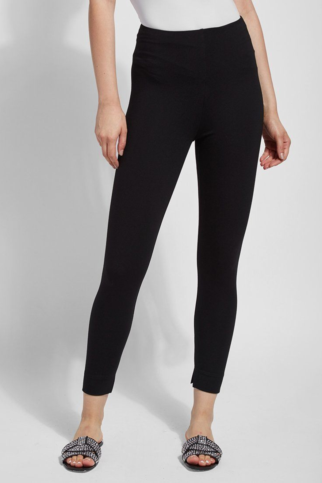 Lysse  Fennel Ankle Slit Legging - Front Full Image