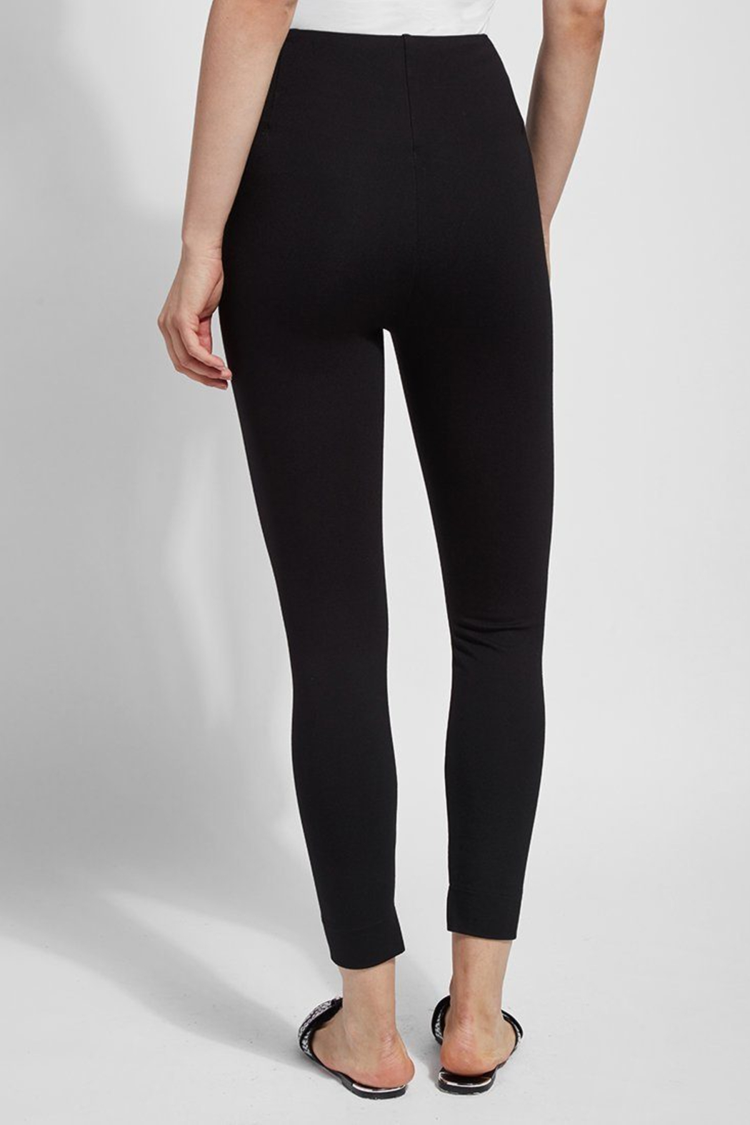 Lysse  Fennel Ankle Slit Legging - Back Cropped Image