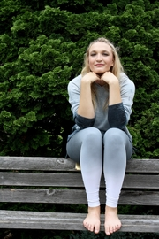 Lysse Grey Ombre Leggings - Front full body