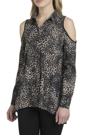 Lysse Leopard Cold Shoulder Blouse - Product Mini Image