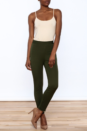 Lysse Olive Green Crop Pants - Front full body