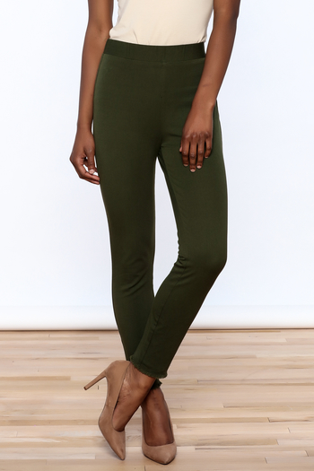 Lysse Olive Green Crop Pants - Main Image