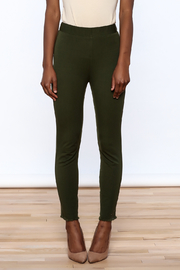Lysse Olive Green Crop Pants - Side cropped
