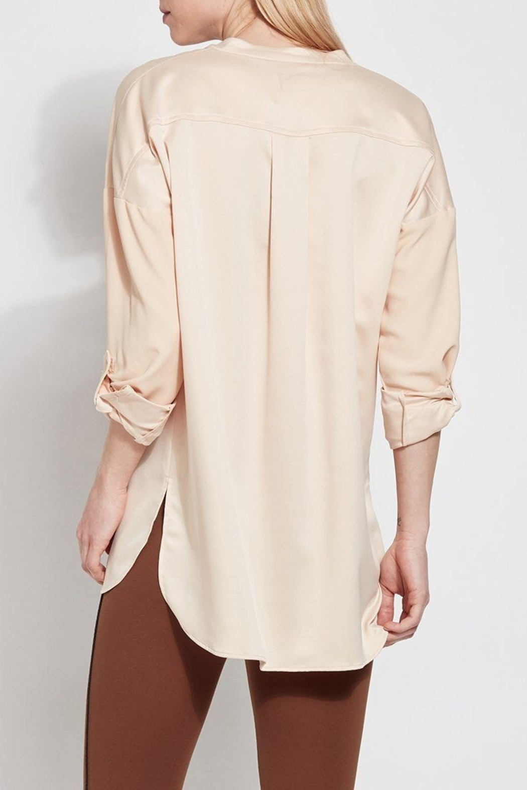Lyssé Lysse Oversized Satin Blouse - Side Cropped Image
