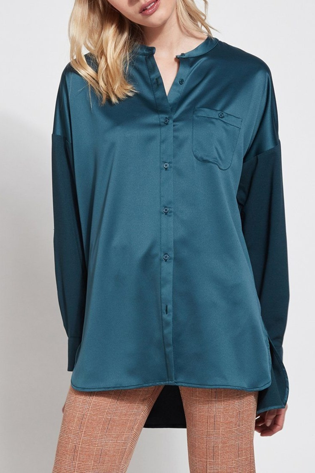Lyssé Lysse Oversized Satin Blouse - Main Image