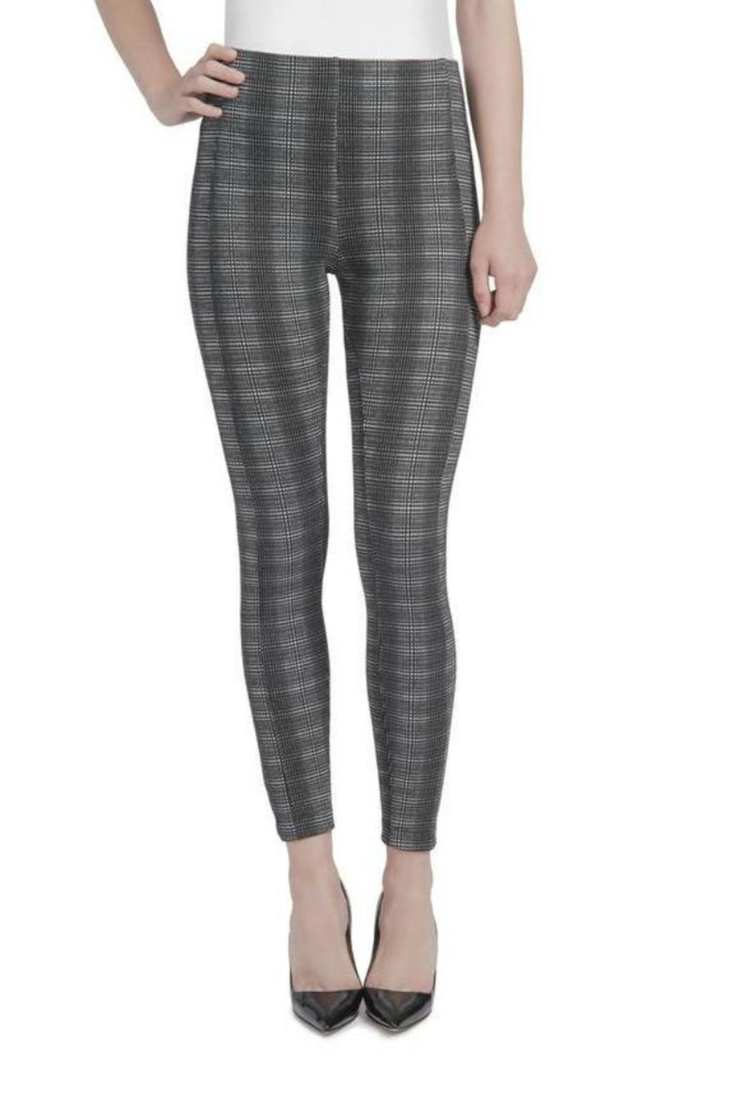 Lysse Plaid Jacquard Jeggings - Main Image