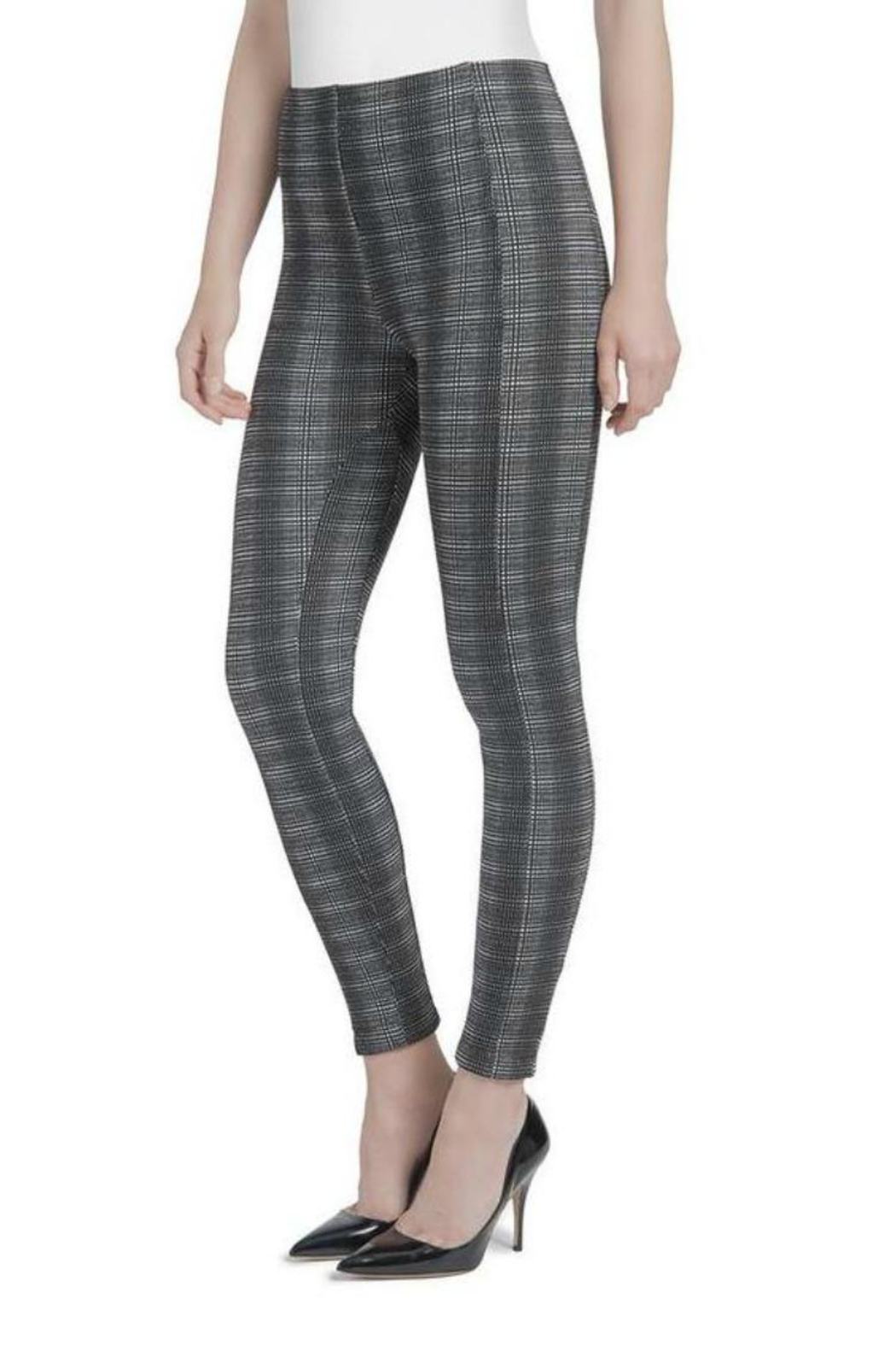 Lysse Plaid Jacquard Jeggings - Front Full Image