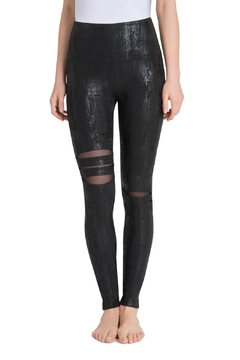 Shoptiques Product: Slashed Liquid Leggings