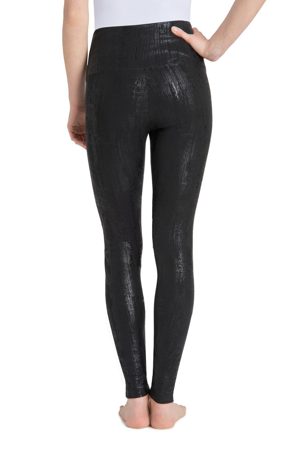 Lysse Slashed Liquid Leggings - Side Cropped Image