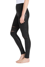 Lysse Slashed Liquid Leggings - Front full body