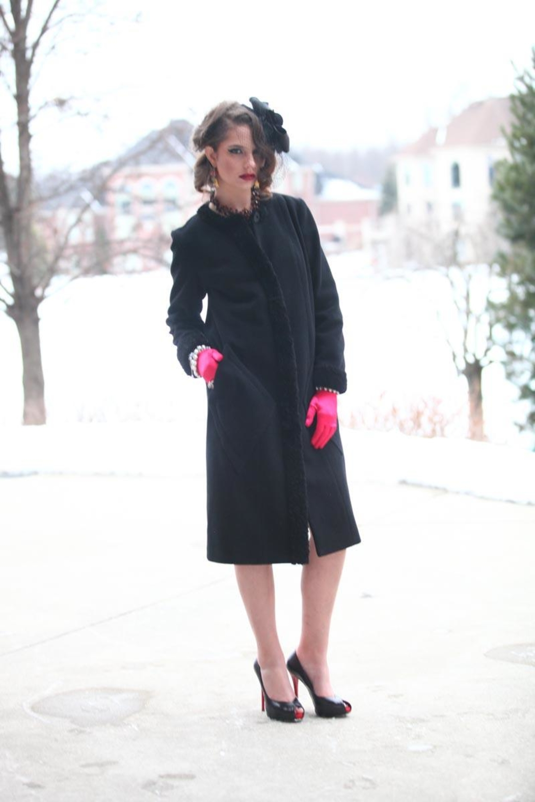 Lyudviga Couture Coat With-Fur Trim - Main Image