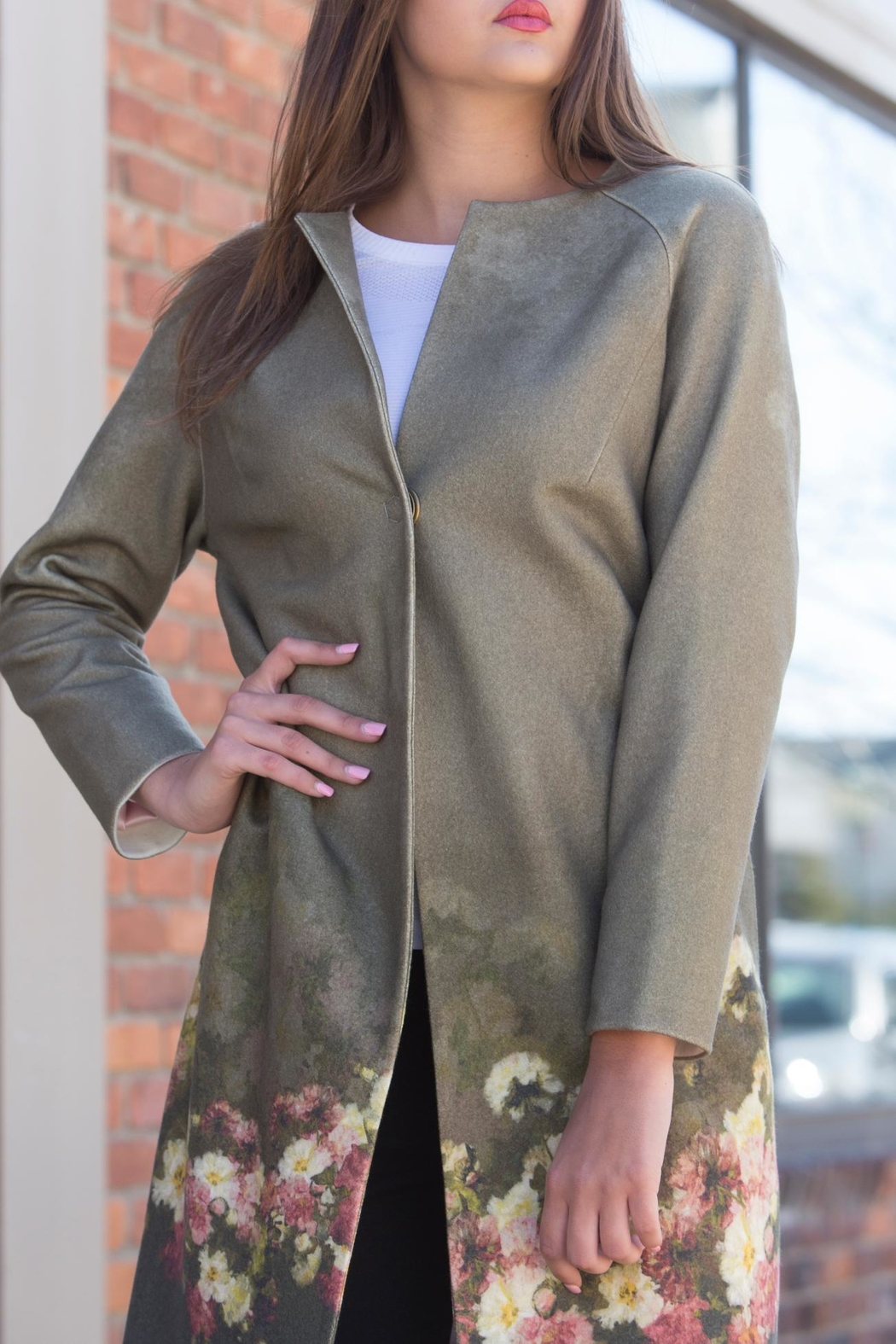 Lyudviga Couture Fashion Garden Coat - Front Cropped Image