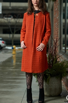 Shoptiques Product: Orange Bouclee Coat