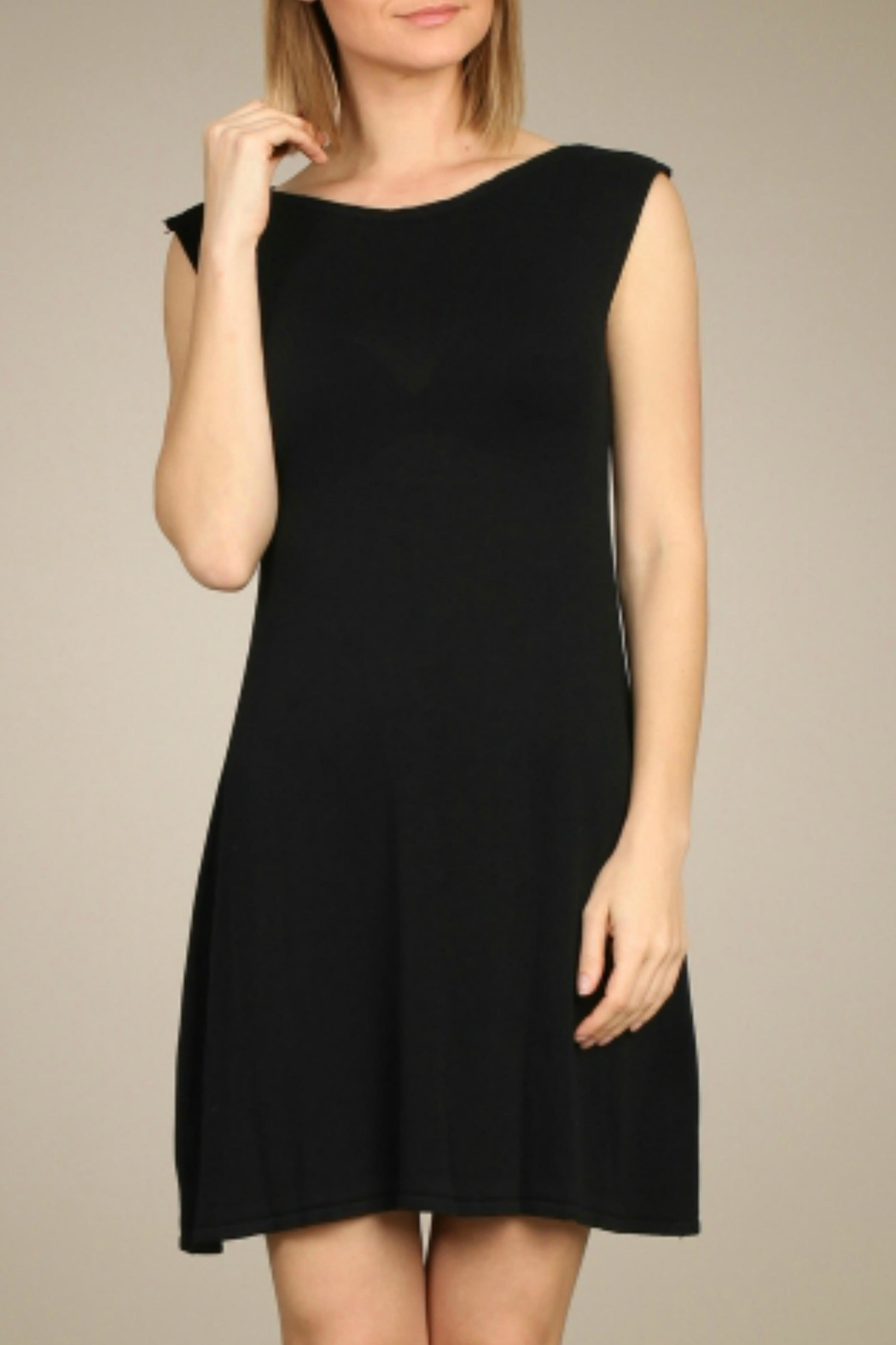 M. Rena Black Knit Dress - Main Image