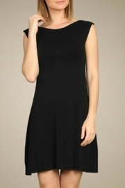 M. Rena Black Knit Dress - Front cropped