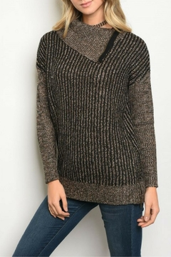 Shoptiques Product: Black Taupe Sweater