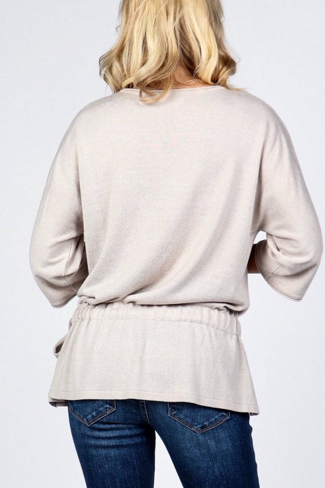M. Rena Dolman Sleeve Sweater Tunic - Front Full Image