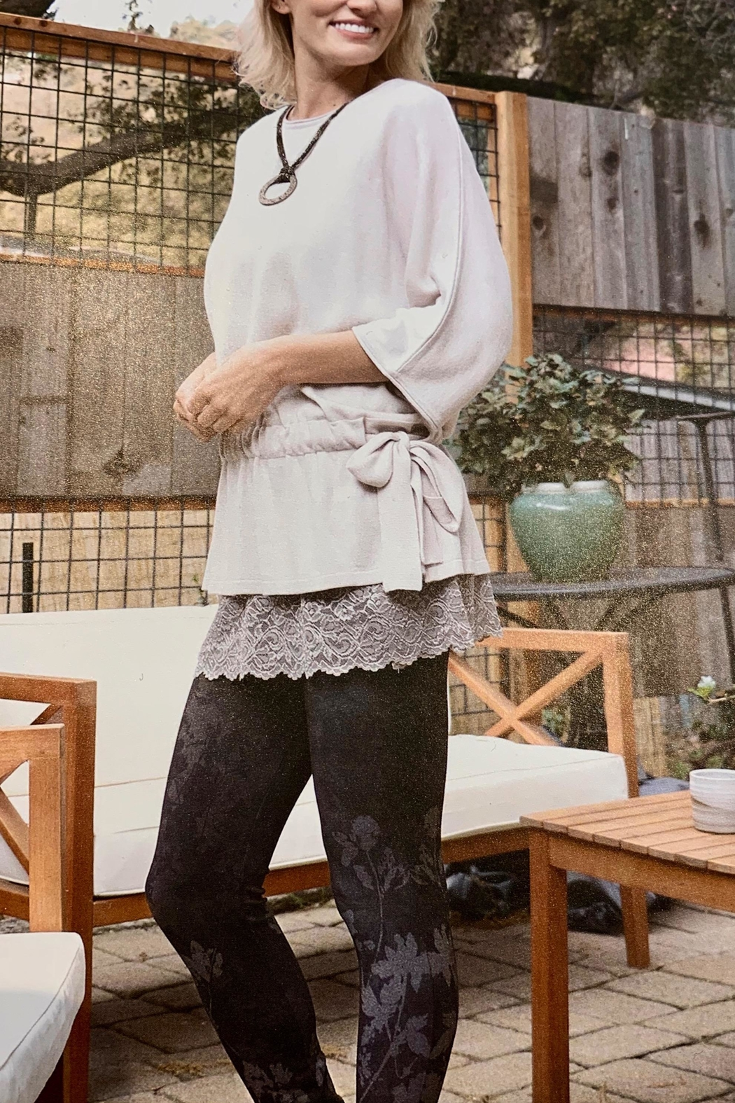 M. Rena Dolman Sleeve Sweater Tunic - Side Cropped Image