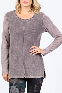 M. Rena Neutral Ribbed Tunic - Product List Image