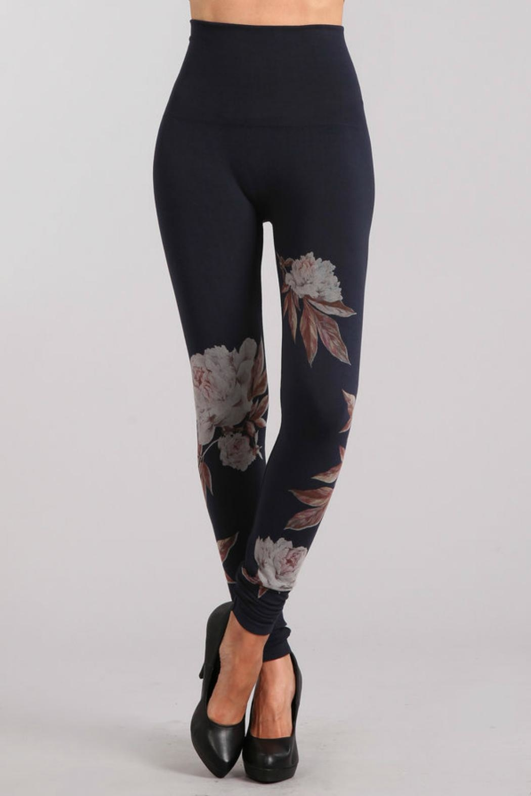 M. Rena Peony Sublimation Leggins - Front Cropped Image
