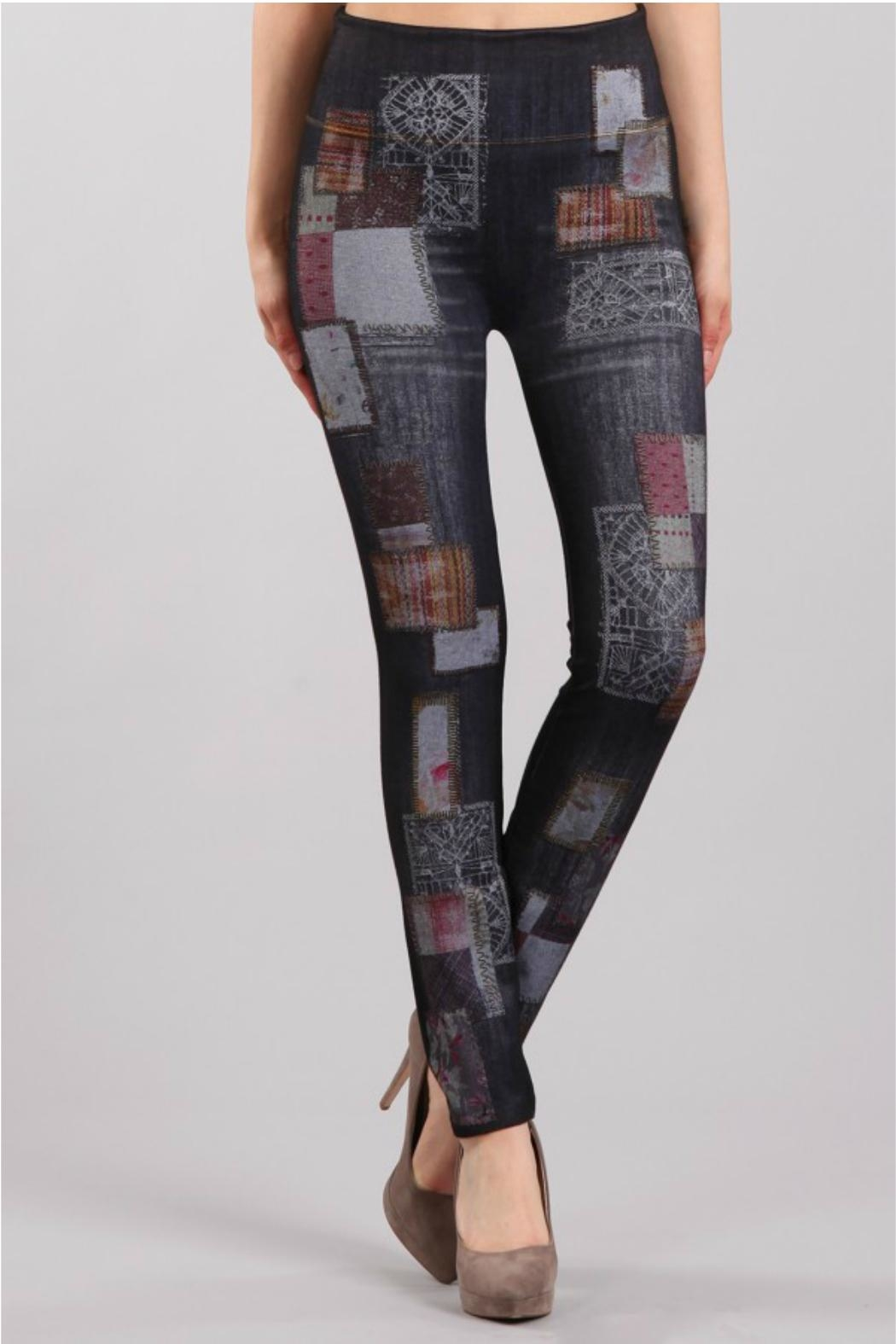 M. Rena Print Denim Legging - Main Image