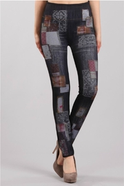 M. Rena Print Denim Legging - Front cropped