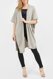M. Rena Sleeveless Long Cardigan - Product Mini Image