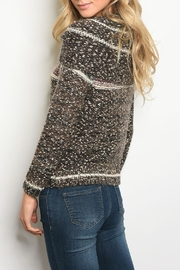 M. Rena Wine Brown Sweater - Front full body