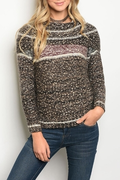 M. Rena Wine Brown Sweater - Product List Image