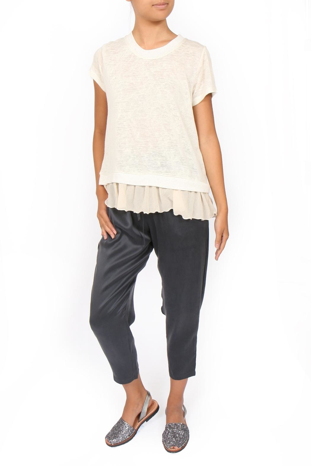 M.A.P. The brand Cropped Silk Pants - Front Full Image