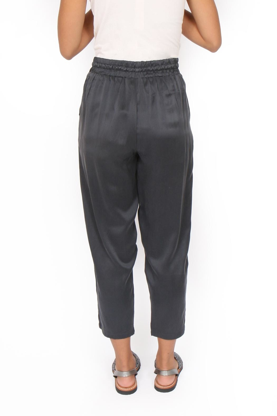 M.A.P. The brand Cropped Silk Pants - Back Cropped Image