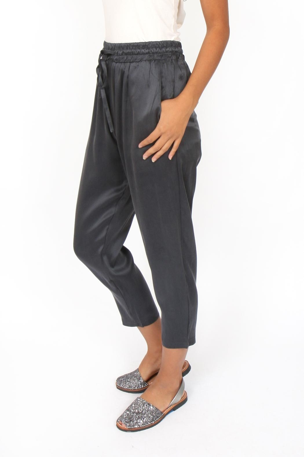 M.A.P. The brand Cropped Silk Pants - Side Cropped Image