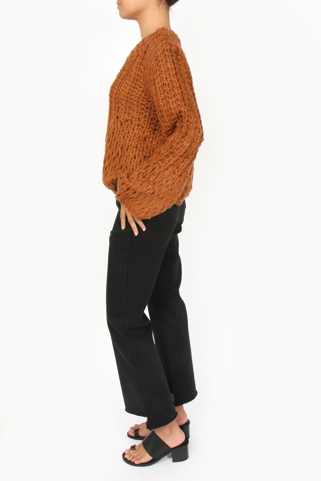 M.A.P. The brand Handknit Chunky Sweater - Side Cropped Image