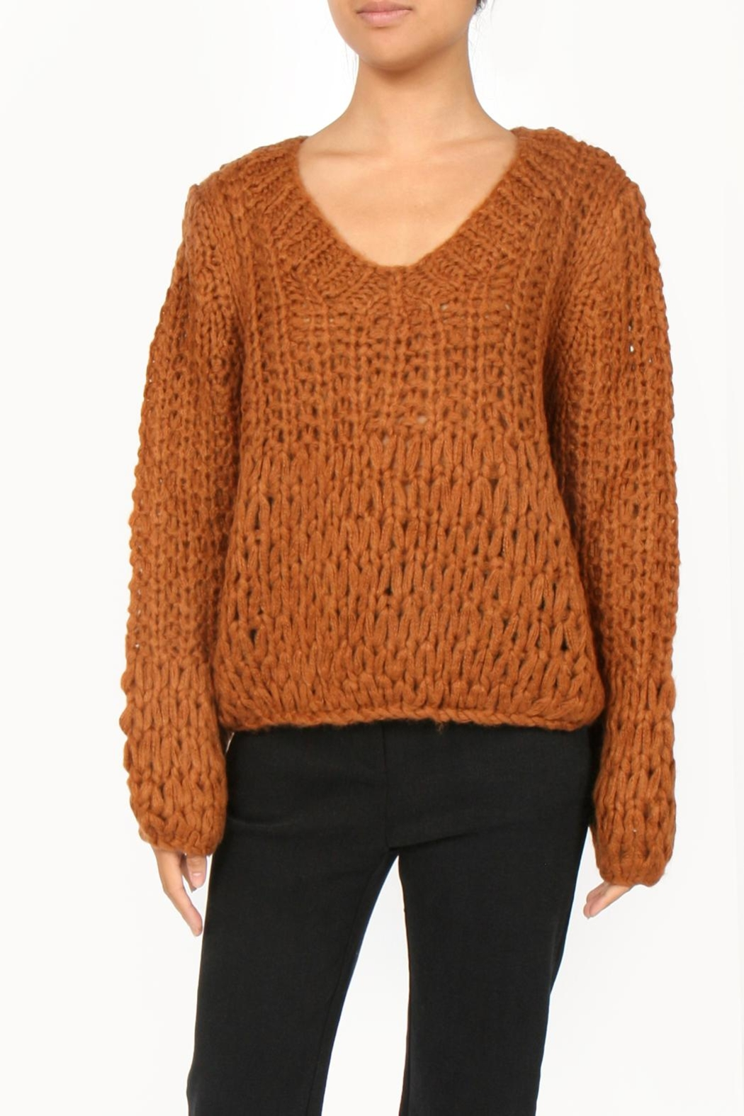 M.A.P. The brand Handknit Chunky Sweater - Front Cropped Image