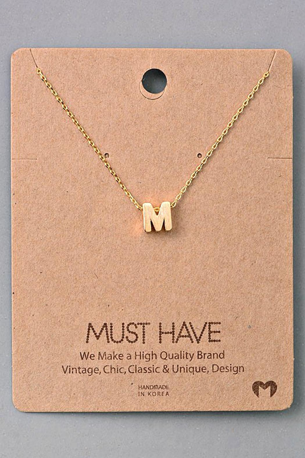 Fame Accessories M-Initial Pendant Necklace - Main Image