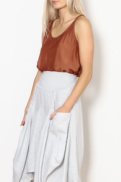 M made in Italy Chiffon Shirred Tank - Product List Image