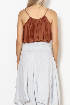 M made in Italy Chiffon Shirred Tank - Alternate List Image