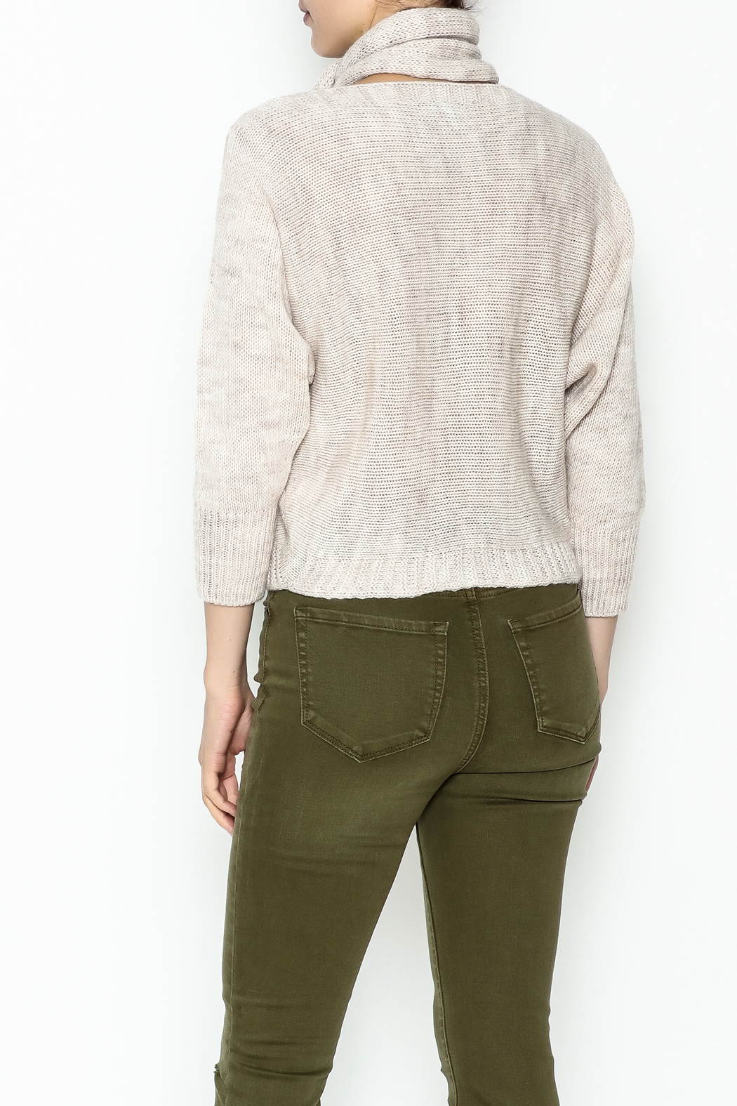 M made in Italy Cut Out Sweater - Back Cropped Image