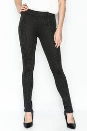 M made in Italy Stripped Legging Pant - Front cropped