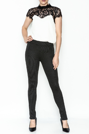M made in Italy Stripped Legging Pant - Side cropped