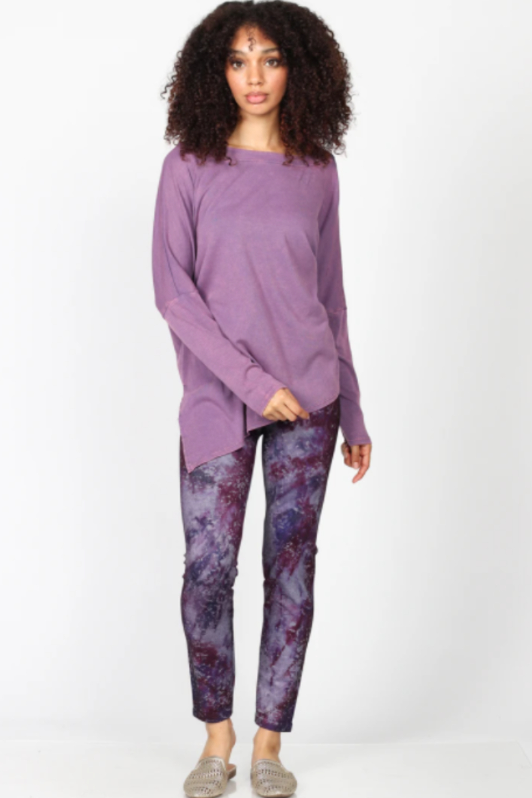 M. Rena  Mineral Wash Tunic - Back Cropped Image