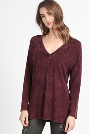 M. Rena V-Neck Raglan Tunic - Product Mini Image