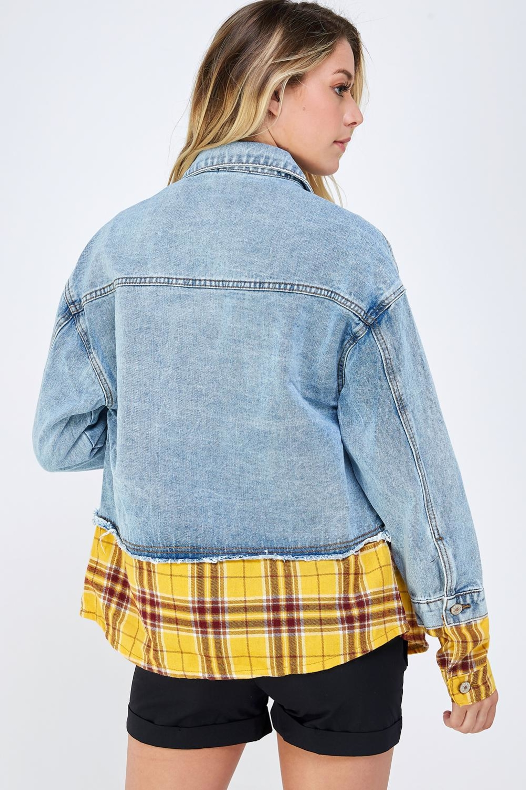 m2 Check Patch Jacket - Back Cropped Image
