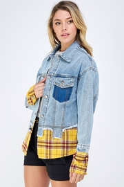 m2 Check Patch Jacket - Side cropped