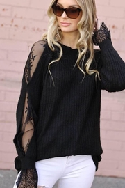 m2 Lace Sleeve Sweater - Front full body